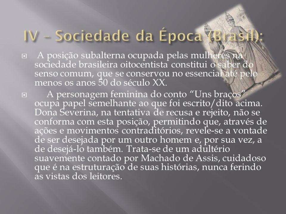IV – Sociedade da Época (Brasil):