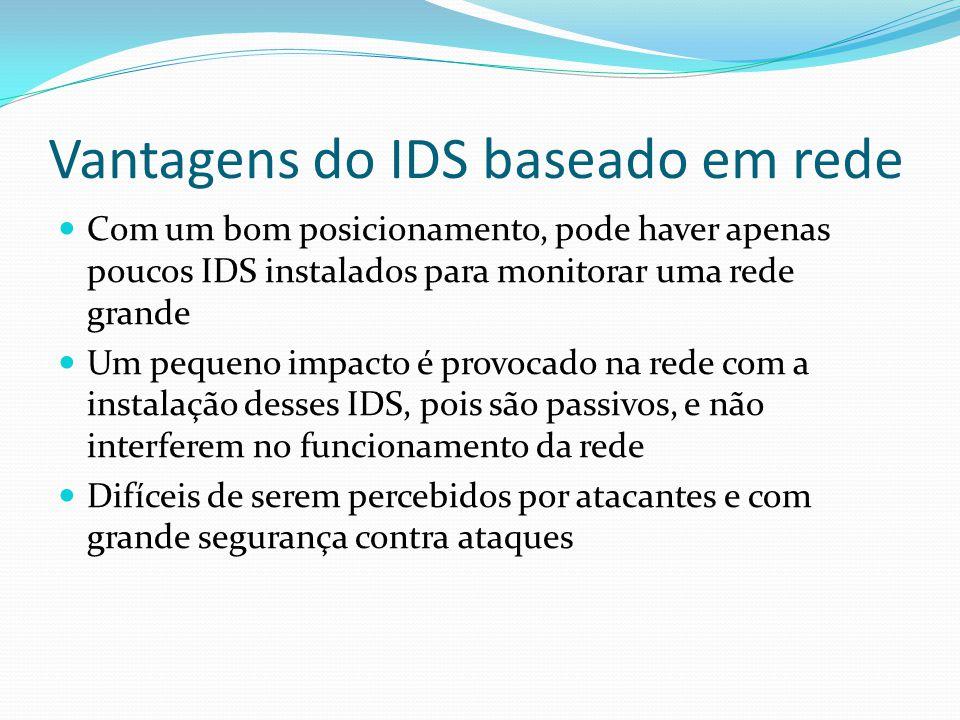 Vantagens do IDS baseado em rede