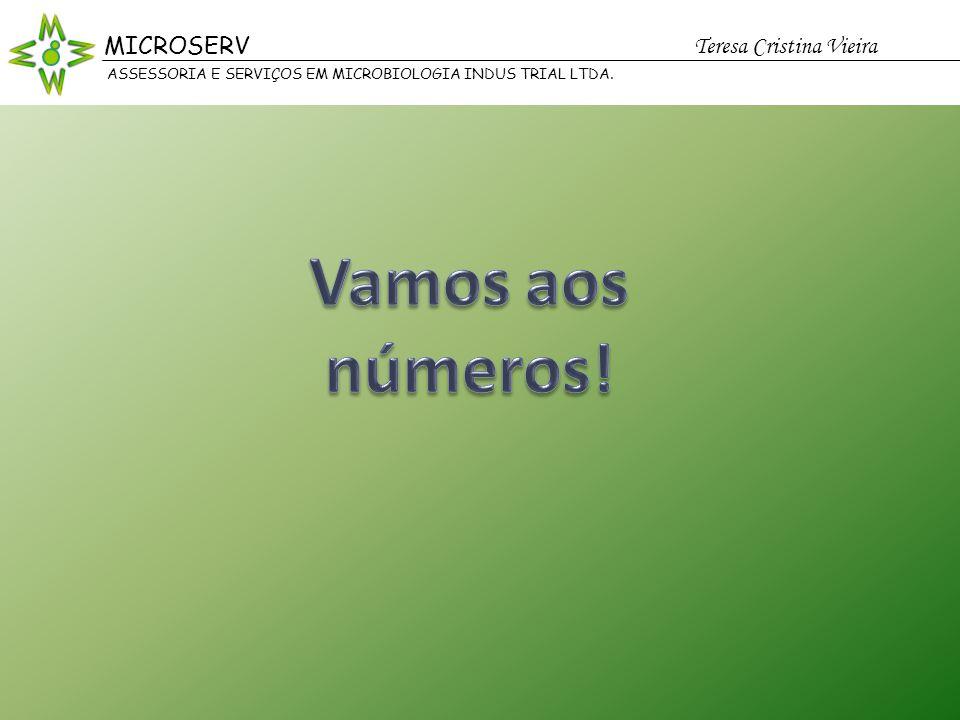 Vamos aos números! MICROSERV Teresa Cristina Vieira MICROSERV