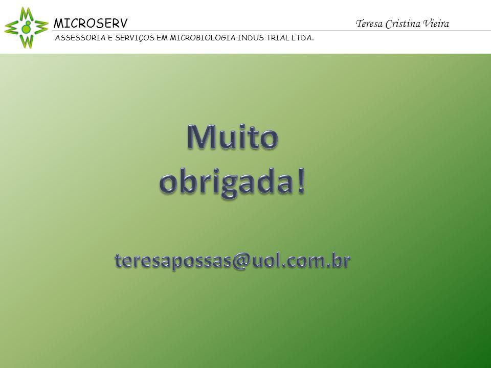 Muito obrigada! teresapossas@uol.com.br MICROSERV