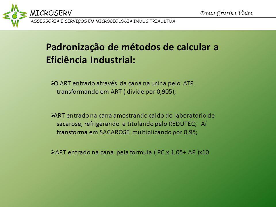 Padronização de métodos de calcular a Eficiência Industrial:
