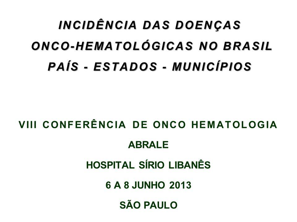 VIII CONFERÊNCIA DE ONCO HEMATOLOGIA HOSPITAL SÍRIO LIBANÊS