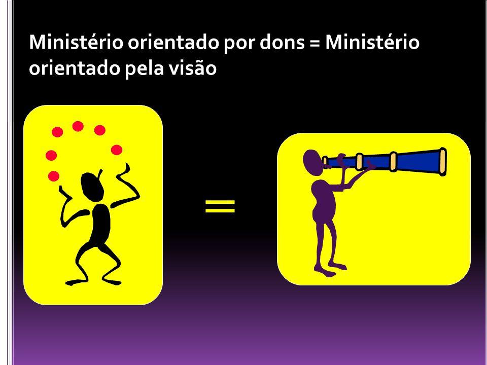 Ministério orientado por dons = Ministério orientado pela visão