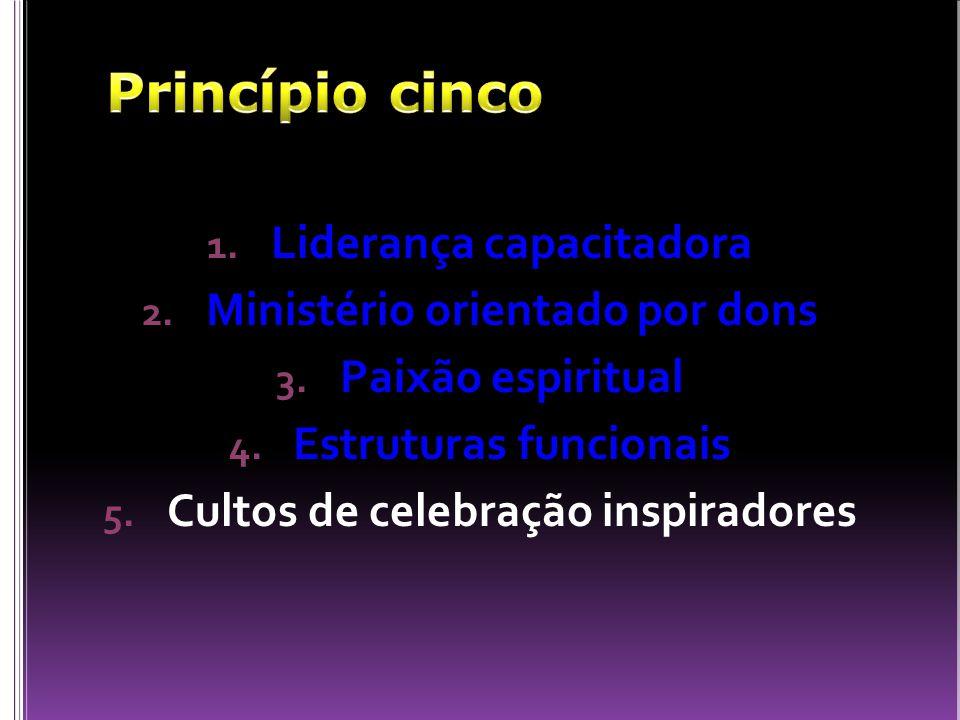 Princípio cinco Liderança capacitadora Ministério orientado por dons