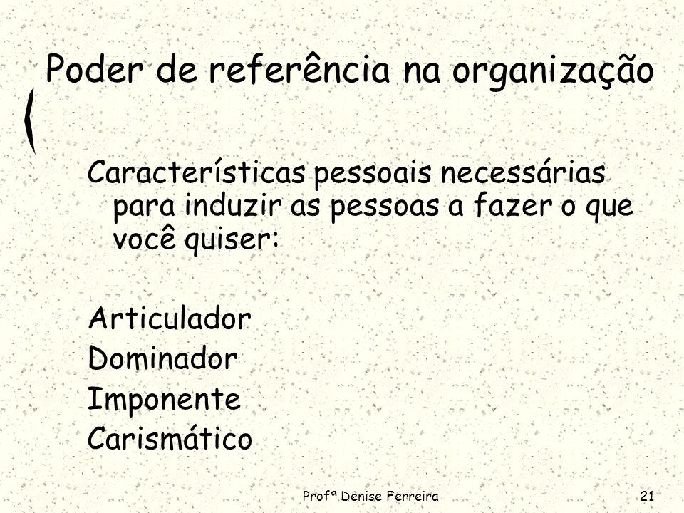 Poder de referência na organização