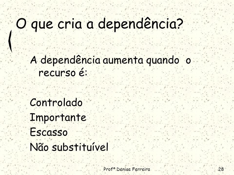 O que cria a dependência