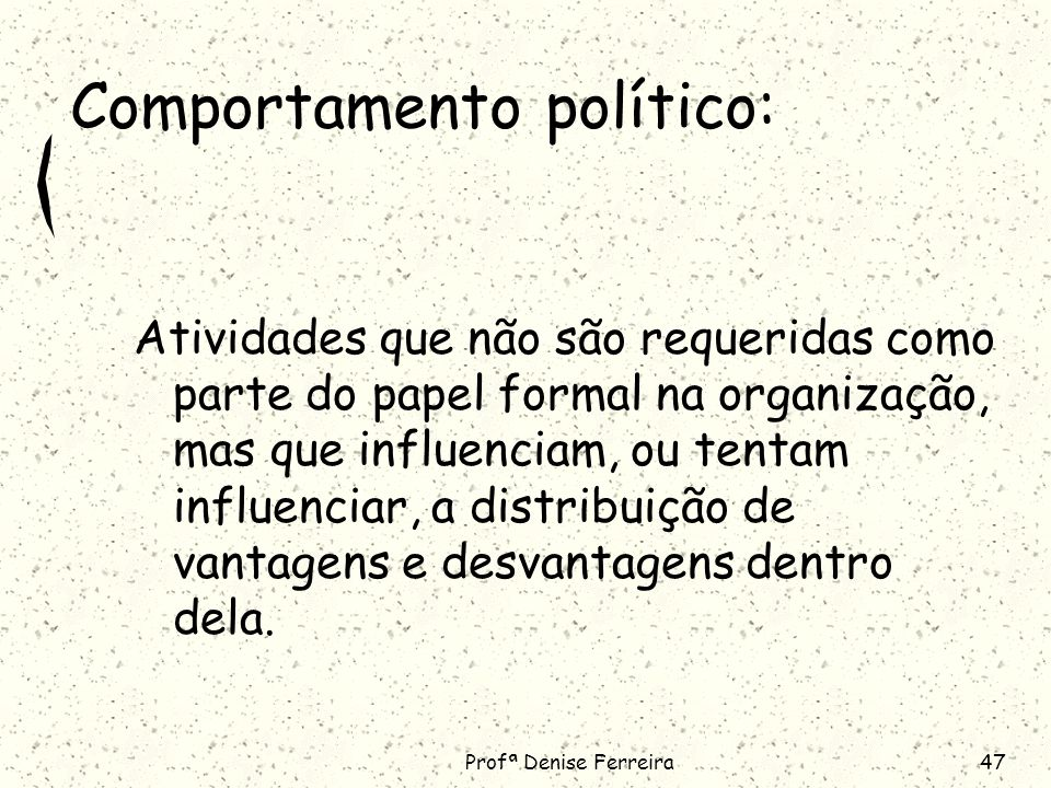 Comportamento político: