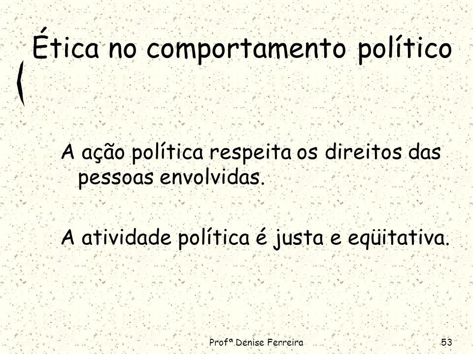 Ética no comportamento político