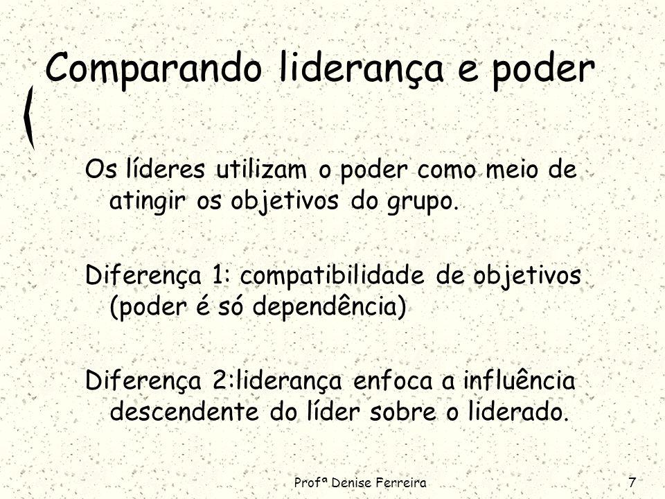 Comparando liderança e poder