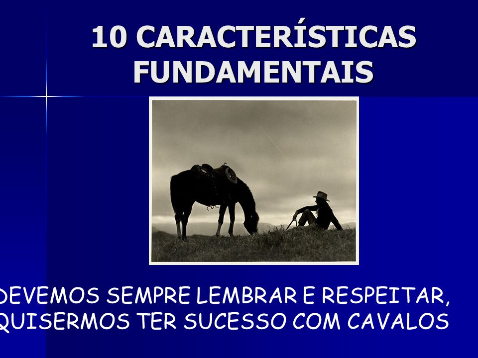 10 CARACTERÍSTICAS FUNDAMENTAIS
