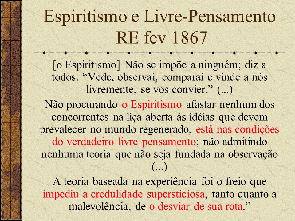 Espiritismo e Livre-Pensamento RE fev 1867