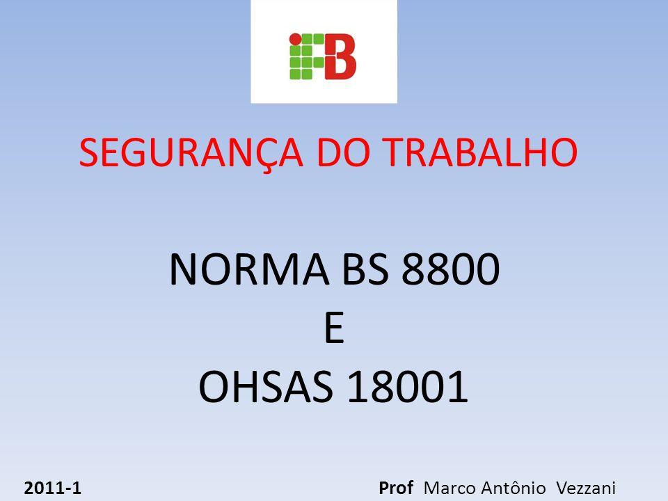 NORMA BS 8800 E OHSAS 18001 2011-1 Prof Marco Antônio Vezzani