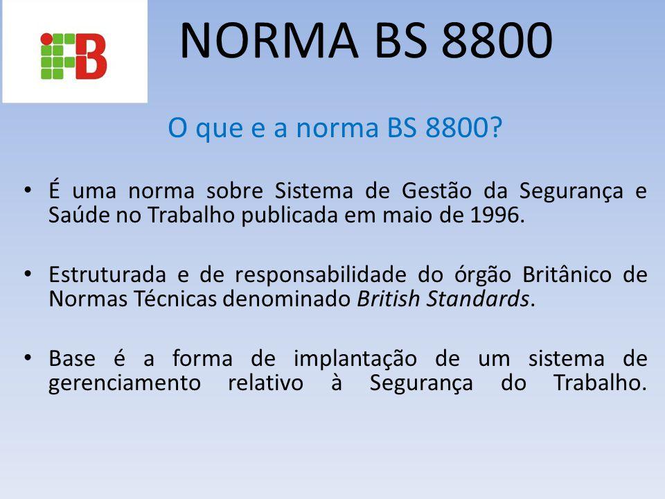 NORMA BS 8800 O que e a norma BS 8800