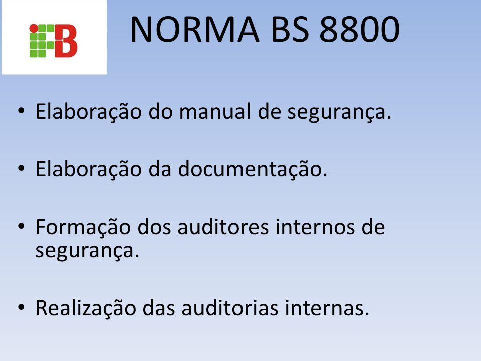 NORMA BS 8800 Elaboração do manual de segurança.