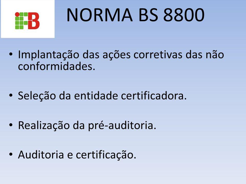 NORMA BS 8800 Implantação das ações corretivas das não conformidades.