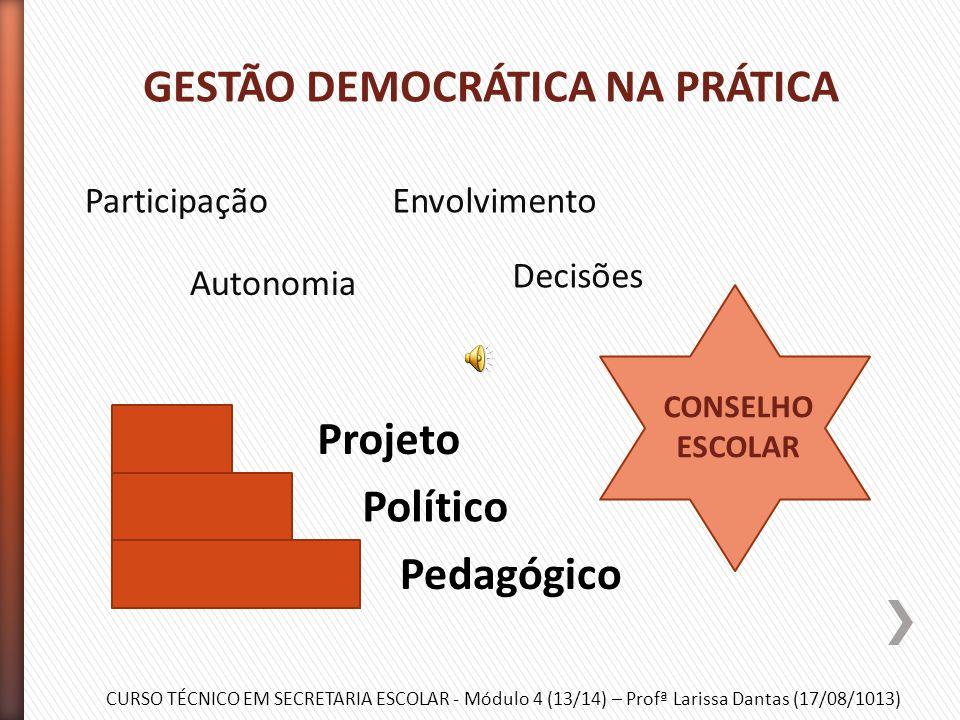 GESTÃO DEMOCRÁTICA NA PRÁTICA