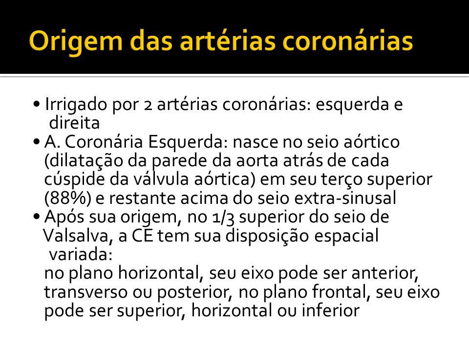 Origem das artérias coronárias