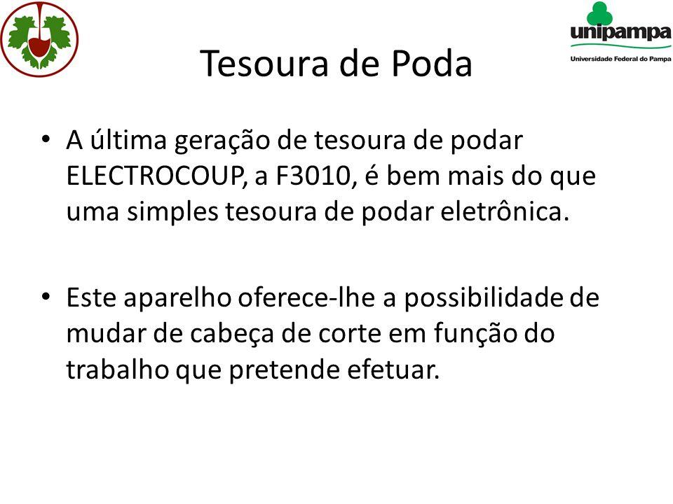Tesoura de Poda A última geração de tesoura de podar ELECTROCOUP, a F3010, é bem mais do que uma simples tesoura de podar eletrônica.