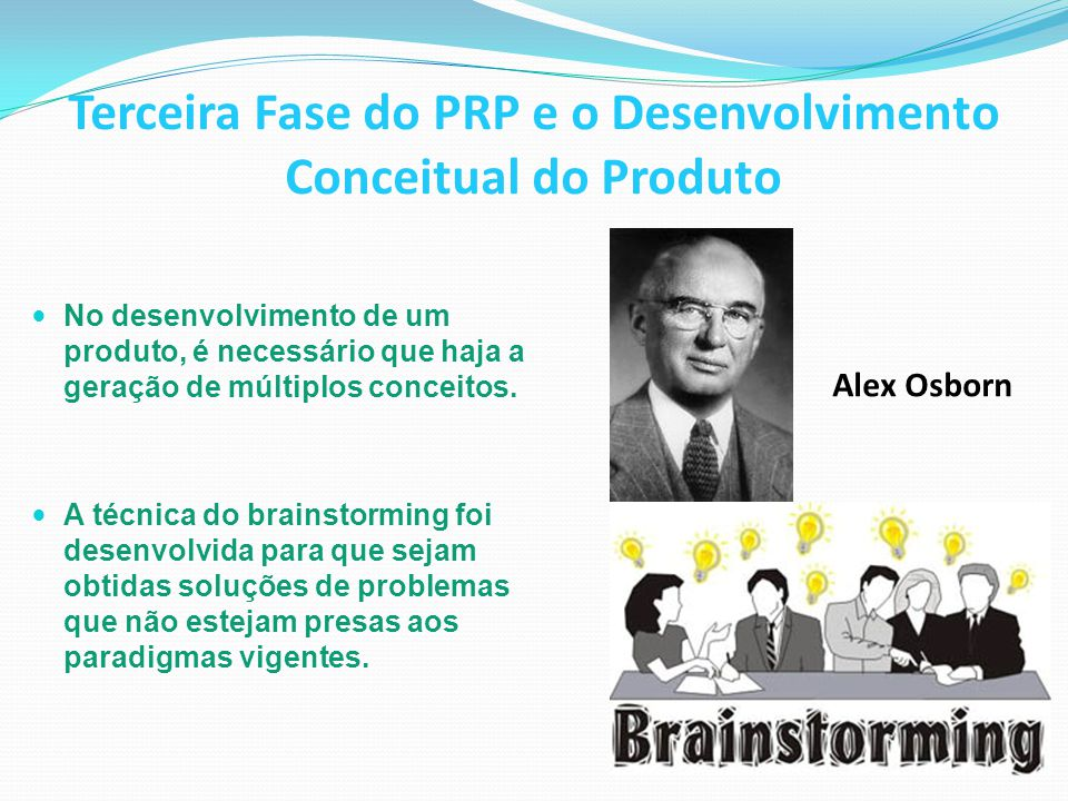 Terceira Fase do PRP e o Desenvolvimento Conceitual do Produto