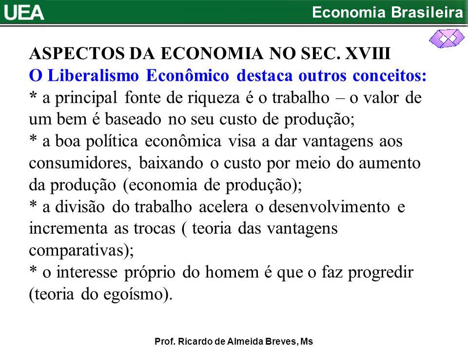 ASPECTOS DA ECONOMIA NO SEC