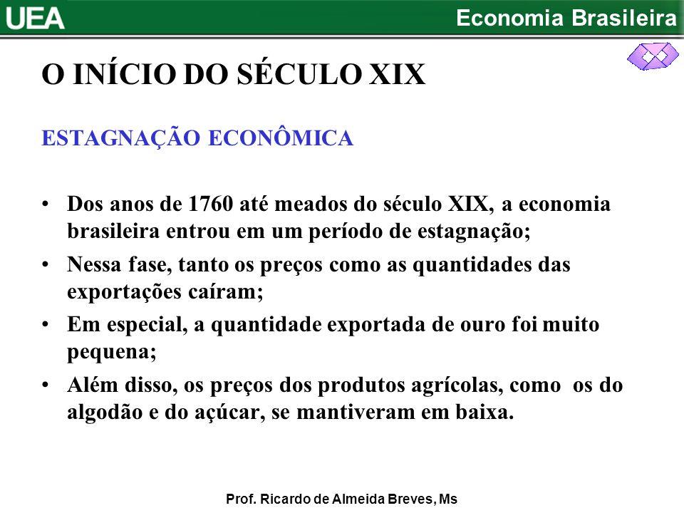 O INÍCIO DO SÉCULO XIX ESTAGNAÇÃO ECONÔMICA
