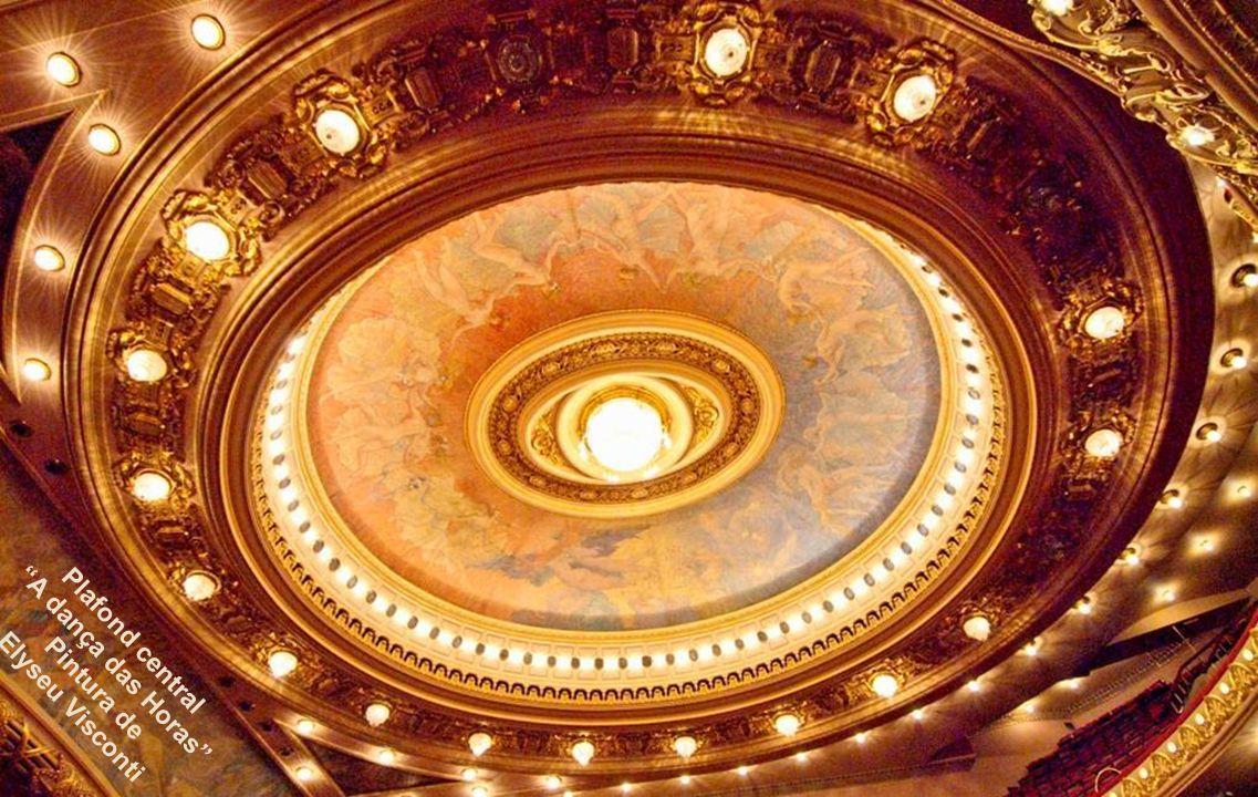 Pl A dança das Horas Plafond central Pintura de Elyseu Visconti
