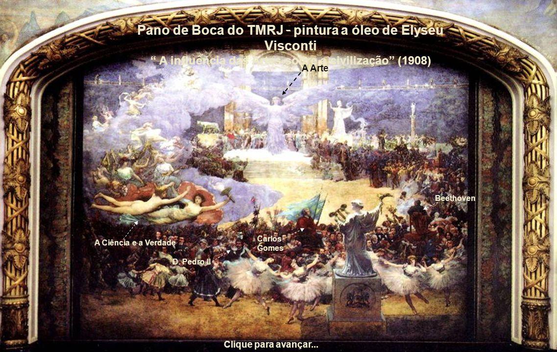 Pano de Boca do TMRJ - pintura a óleo de Elyseu Visconti