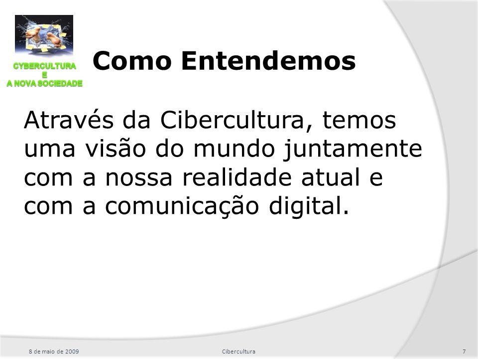Como Entendemos Através da Cibercultura, temos uma visão do mundo juntamente com a nossa realidade atual e com a comunicação digital.