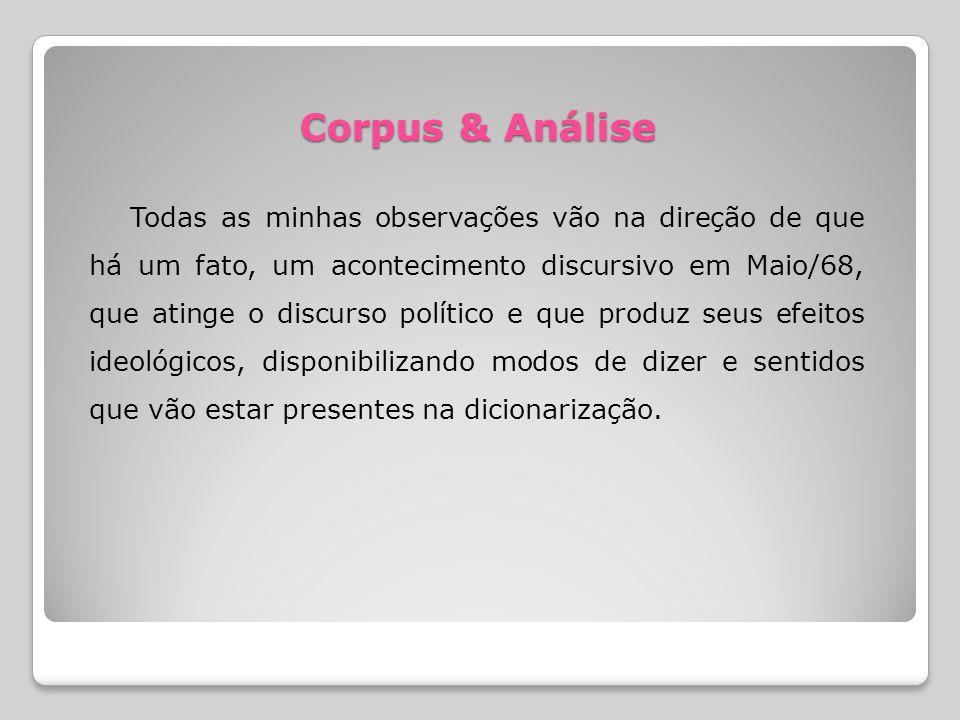 Corpus & Análise