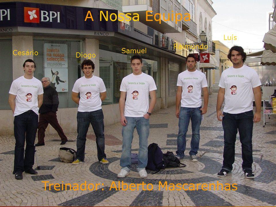 A nossa equipa A Nossa Equipa Treinador: Alberto Mascarenhas Luís