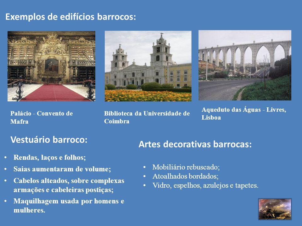 Exemplos de edifícios barrocos: