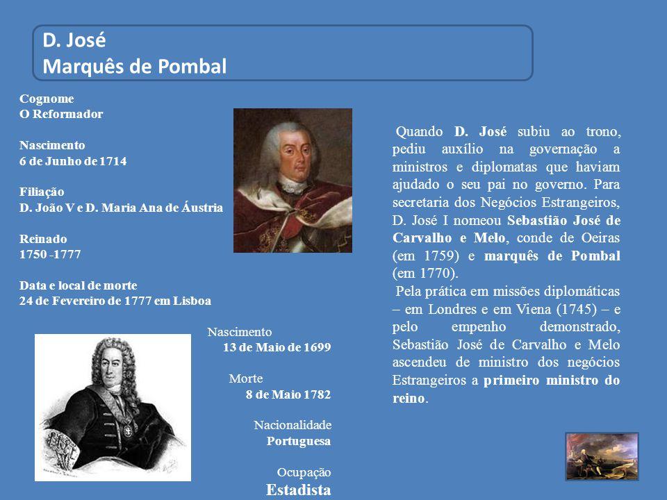 D. José Marquês de Pombal Estadista