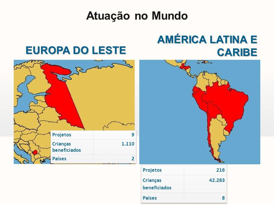 Atuação no Mundo AMÉRICA LATINA E CARIBE EUROPA DO LESTE Projetos 9