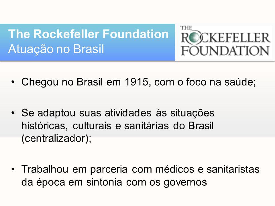 The Rockefeller Foundation Atuação no Brasil