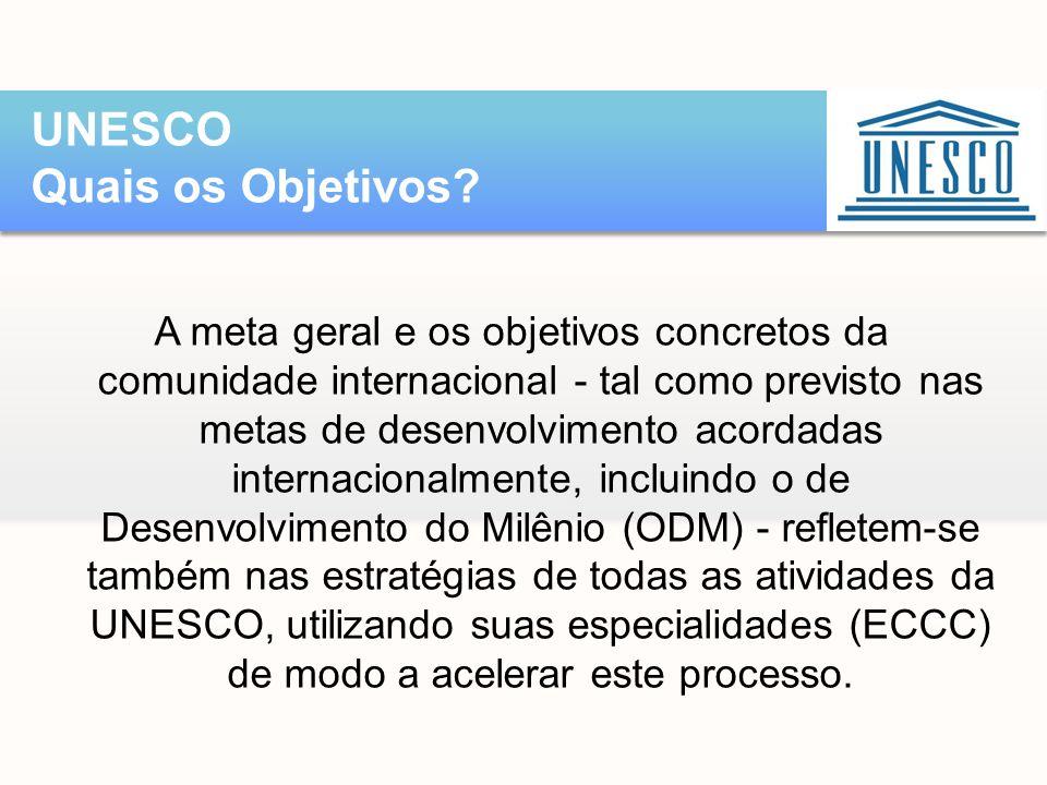 UNESCO Quais os Objetivos