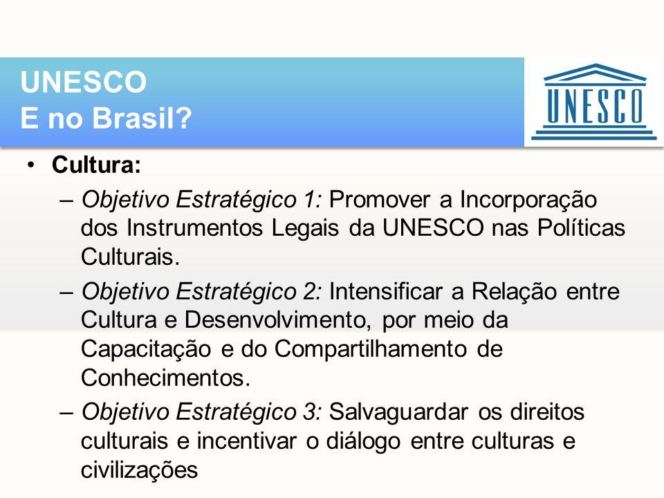 UNESCO E no Brasil Cultura: