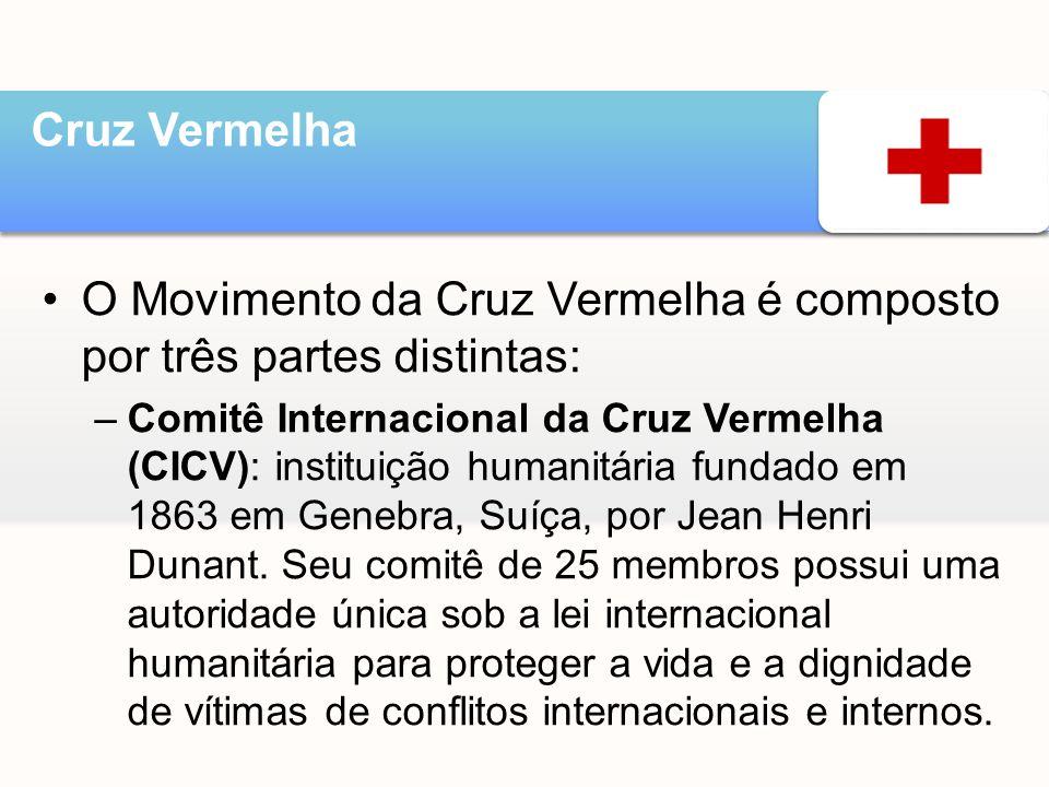 O Movimento da Cruz Vermelha é composto por três partes distintas: