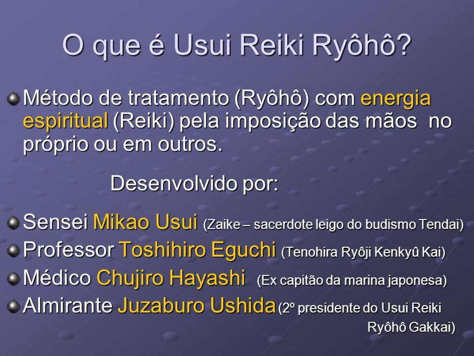 O que é Usui Reiki Ryôhô Método de tratamento (Ryôhô) com energia espiritual (Reiki) pela imposição das mãos no próprio ou em outros.
