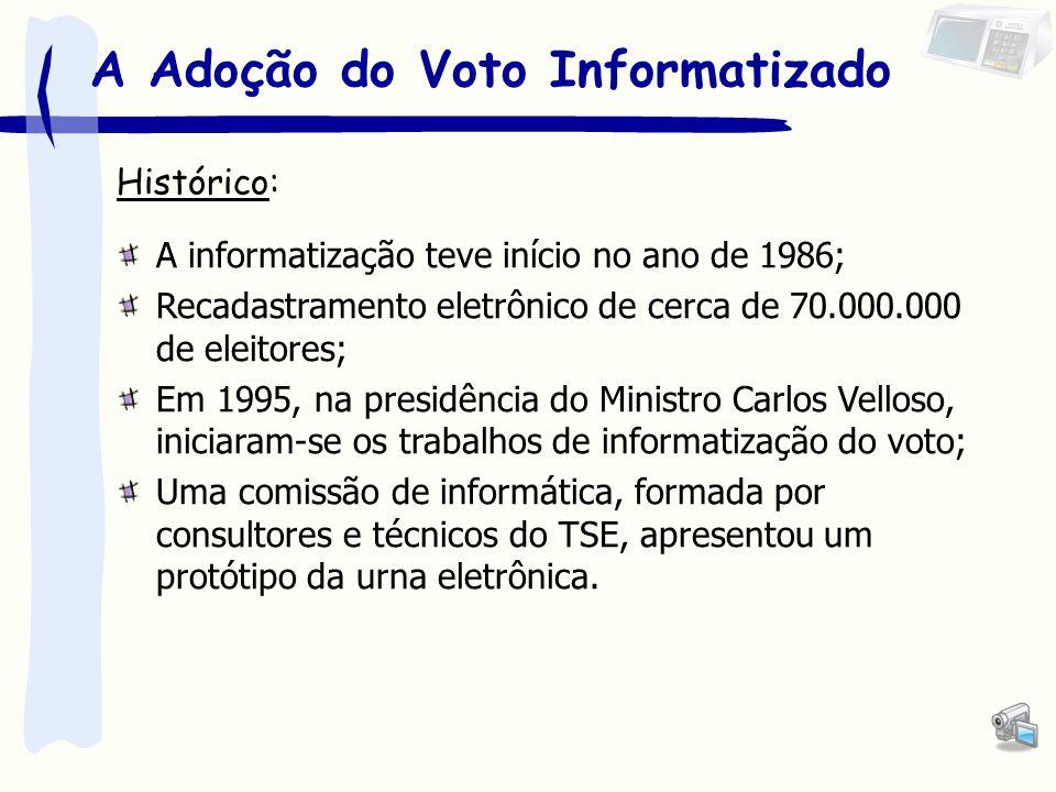 A Adoção do Voto Informatizado