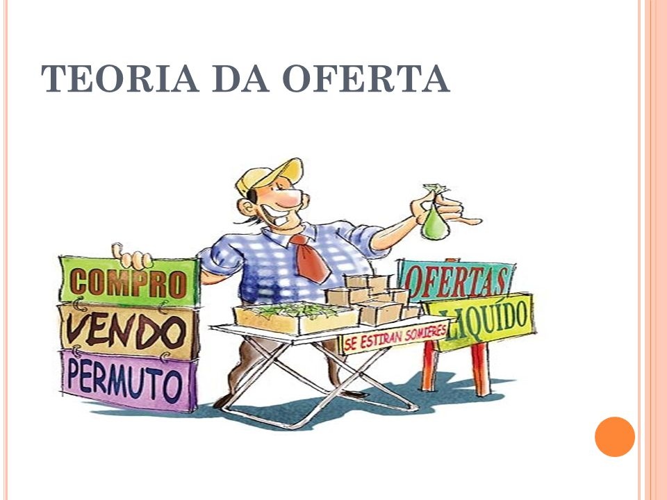 TEORIA DA OFERTA