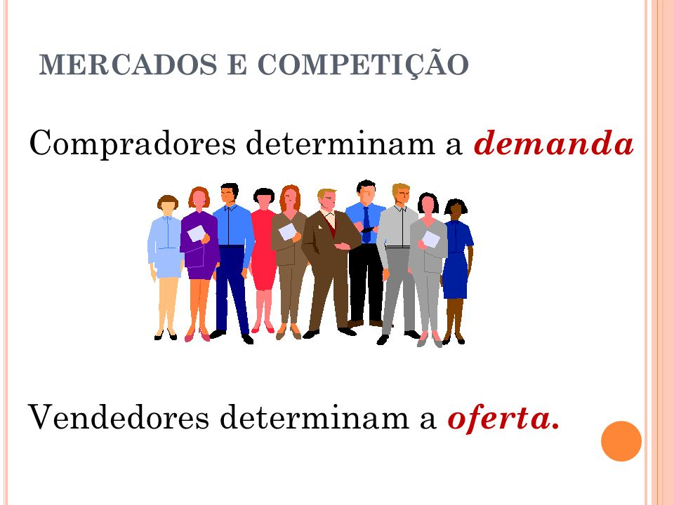 Compradores determinam a demanda
