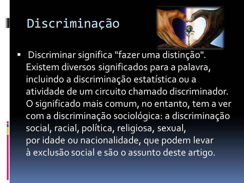 Discriminação