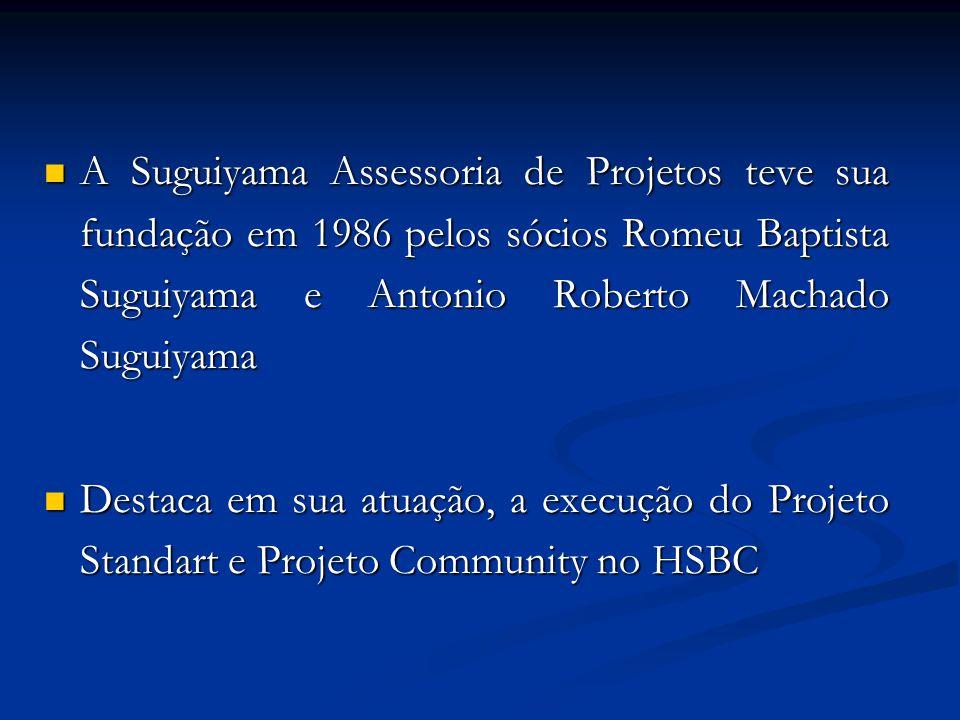 A Suguiyama Assessoria de Projetos teve sua fundação em 1986 pelos sócios Romeu Baptista Suguiyama e Antonio Roberto Machado Suguiyama