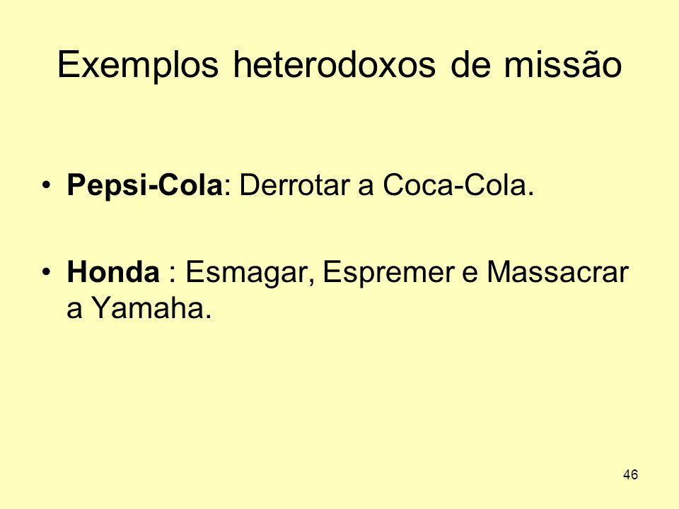 Exemplos heterodoxos de missão