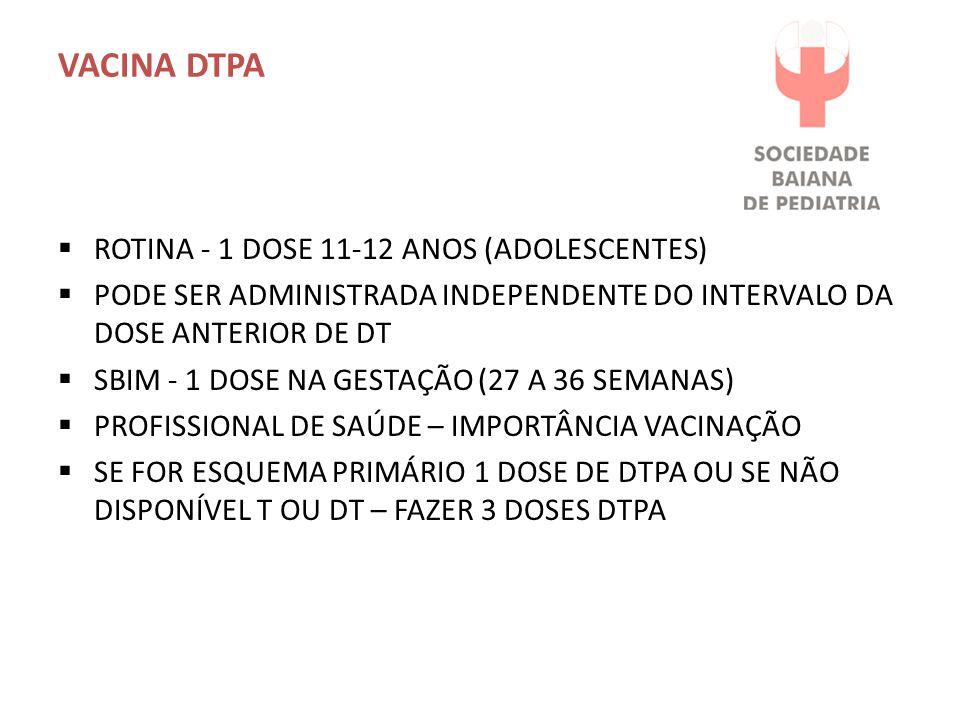 VACINA DTPA ROTINA - 1 DOSE 11-12 ANOS (ADOLESCENTES)