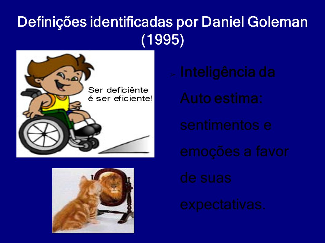 Definições identificadas por Daniel Goleman (1995)