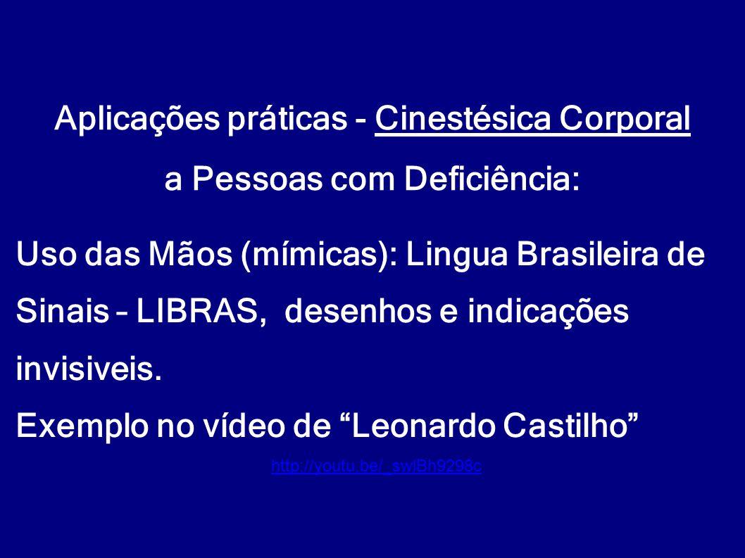 Aplicações práticas - Cinestésica Corporal a Pessoas com Deficiência: