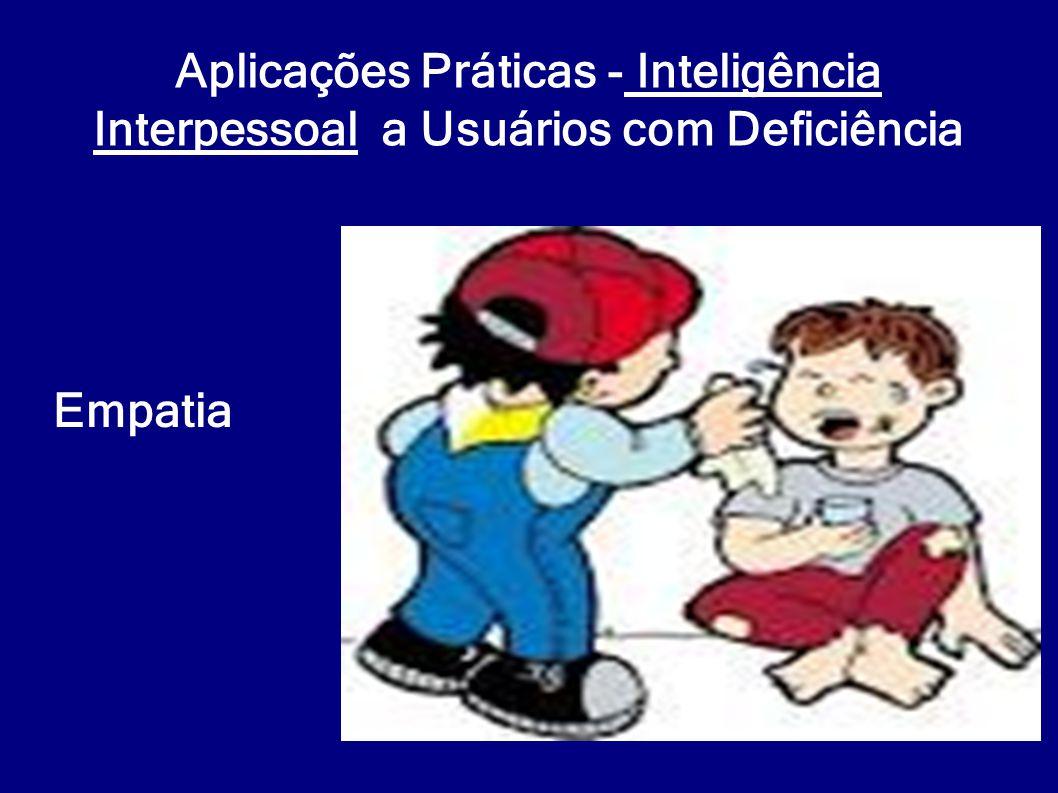 Aplicações Práticas - Inteligência Interpessoal a Usuários com Deficiência
