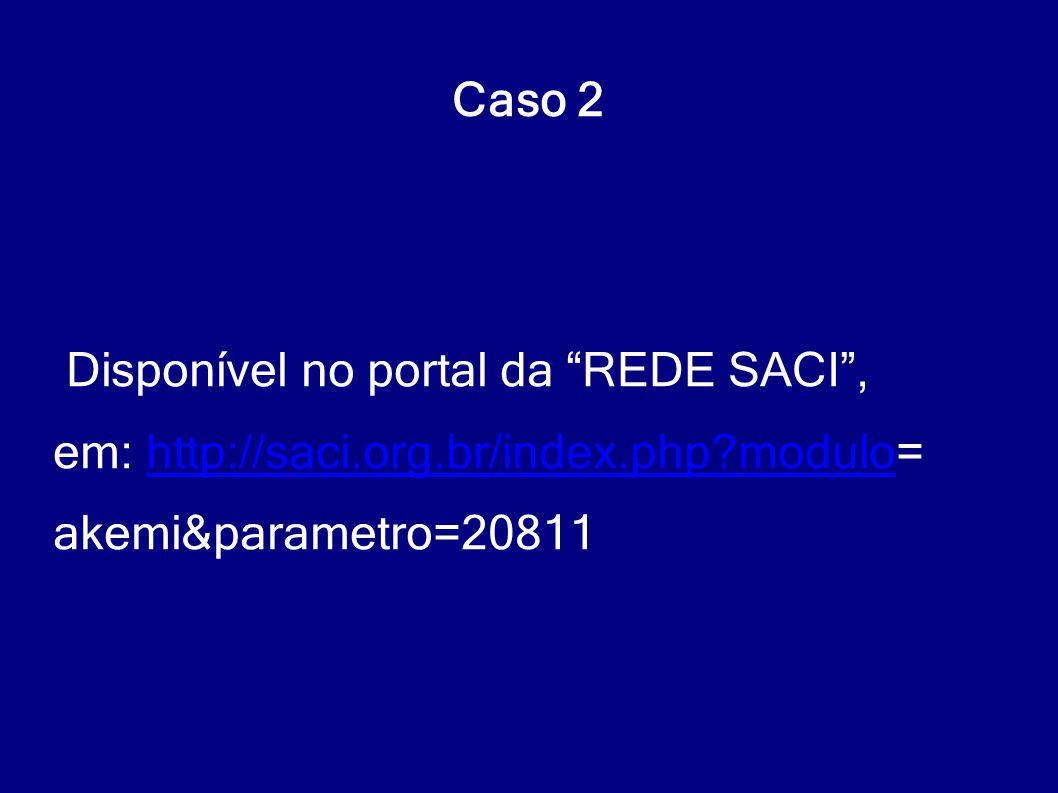 Caso 2 Disponível no portal da REDE SACI , em: http://saci.org.br/index.php modulo= akemi&parametro=20811.