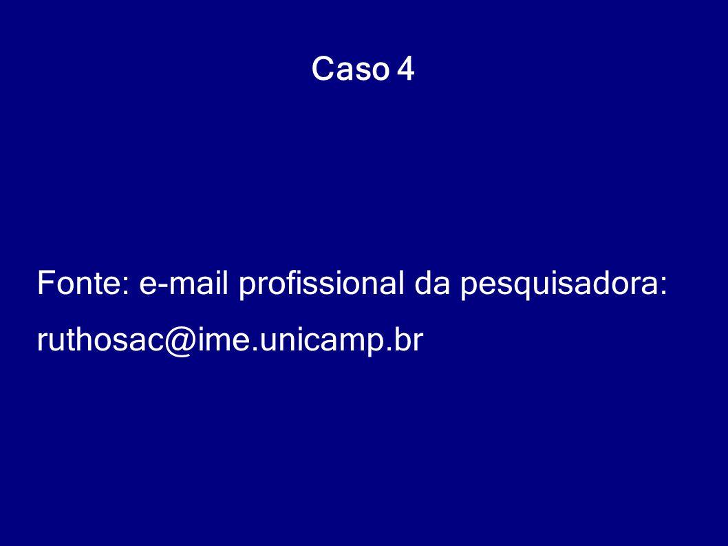 Fonte: e-mail profissional da pesquisadora: ruthosac@ime.unicamp.br